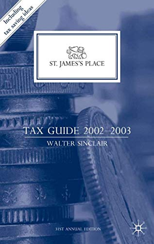 9780333945537: St. James's Place Tax Guide 2002–2003