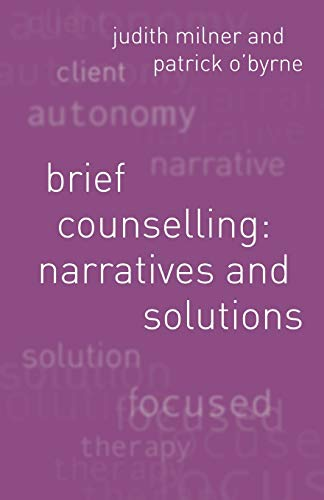 9780333946473: Brief Counselling: Narratives and Solutions