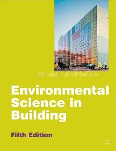 9780333947715: Environmental Science in Building (Building & Surveying Series)