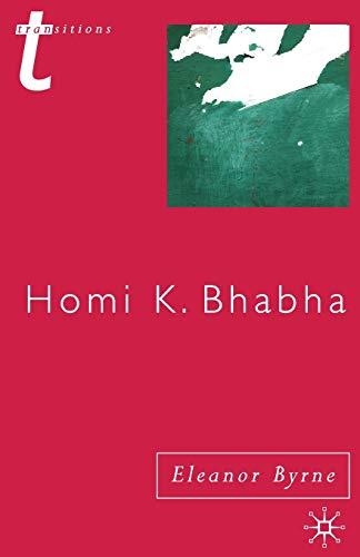 9780333948484: Homi K. Bhabha (Transitions)
