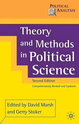 9780333948552: Theory and Methods in Political Science
