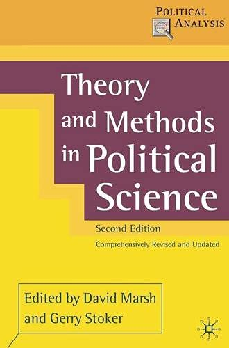9780333948569: Theory and Methods in Political Science, Second Edition (Political Analysis (Palgrave Hardcover))