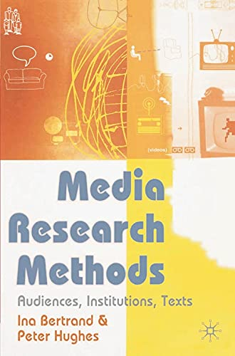 9780333960950: Media Research: Audiences, Institutions, Texts