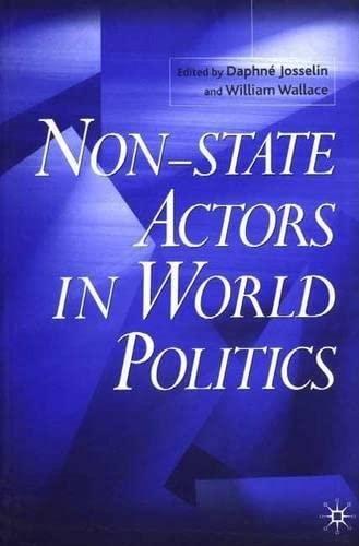 9780333961254: Non-State Actors in World Politics