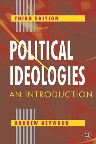 9780333961773: Political Ideologies: An Introduction