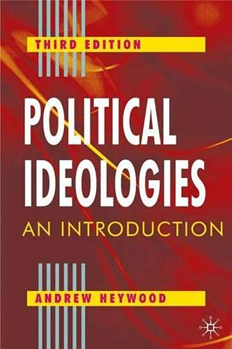 9780333961780: Political Ideologies: An Introduction