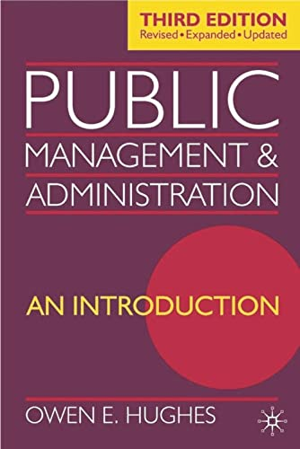 9780333961872: Public Management and Administration: An Introduction
