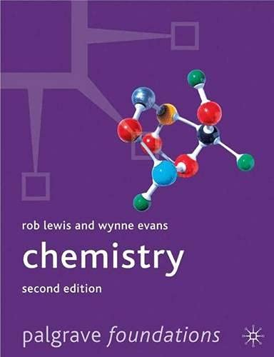 Chemistry 2nd ed (Palgrave Foundations Series): Evans, Wynne, Lewis,