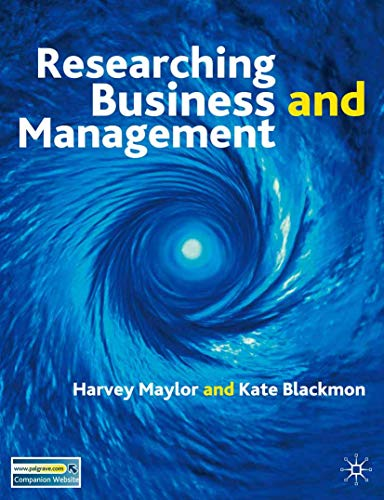 9780333964071: Research Business and Management