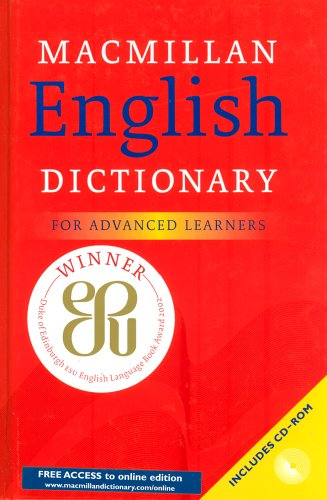 9780333968468: Macmillan English Dictionary: For Advanced Learners