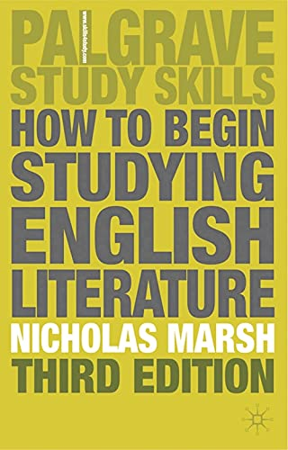 9780333968710: How to Begin Studying English Literature (Palgrave Study Guides: Literature)