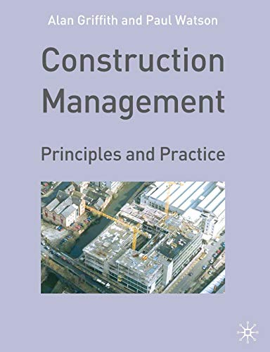 9780333968789: Construction Management: Principles and Practice