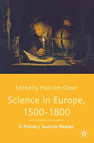 9780333970010: Science in Europe, 1500-1800: A Primary Sources Reader