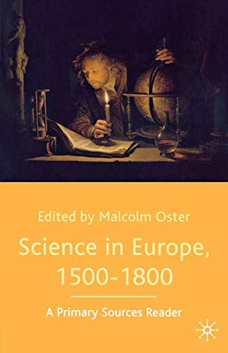 9780333970027: Science in Europe, 1500-1800: A Primary Sources Reader