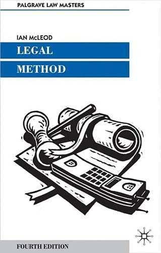Legal Method (Palgrave Law Masters): McLeod, Ian and
