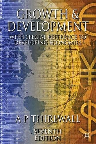 9780333980880: Growth and Development: With Special Reference to Developing Economies