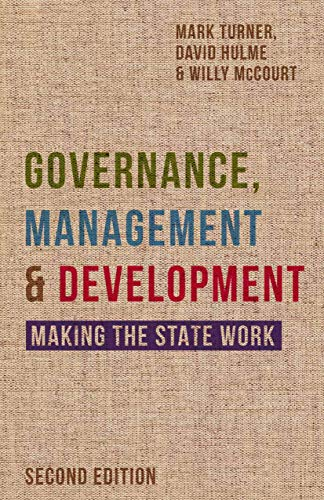 9780333984628: Governance, Management and Development: Making the State Work