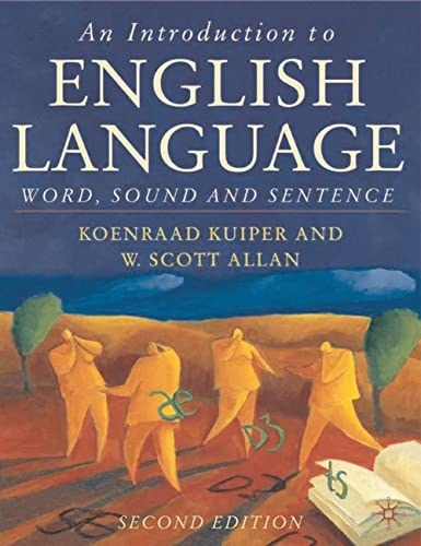 9780333984642: An Introduction to English Language: Word, Sound and Sentence