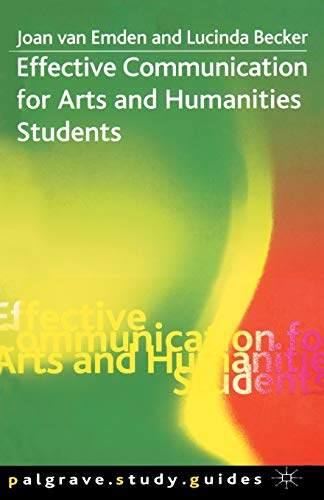 9780333984871: Effective Communication for Arts and Humanities Students (Palgrave Study Skills)