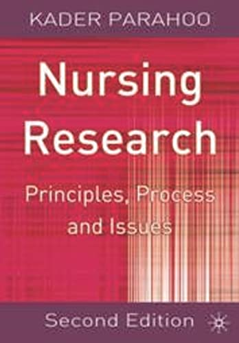 9780333987278: Nursing Research: Principles, Process and Issues
