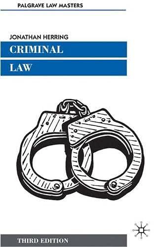 9780333987704: Criminal Law (Palgrave Law Masters)