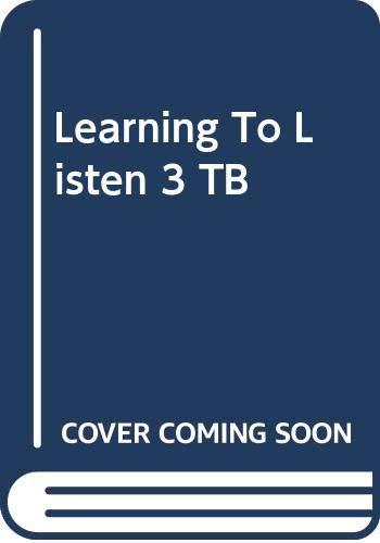 9780333988923: Learning to Listen 3 - Teacher Book - Making Sense of SpokenEnglish