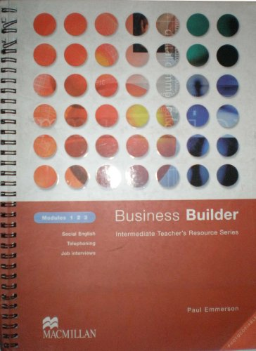 9780333990940: Business Builder: Teacher Resource Module 1-3