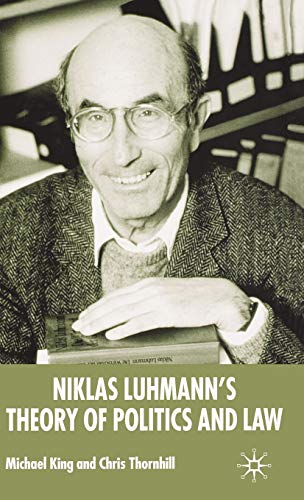 9780333993101: Niklas Luhmann's Theory of Politics and Law