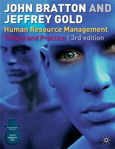 9780333993262: Human Resource Management, Third Edition: Theory and Practice
