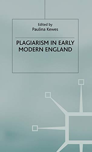 9780333998410: Plagiarism in Early Modern England