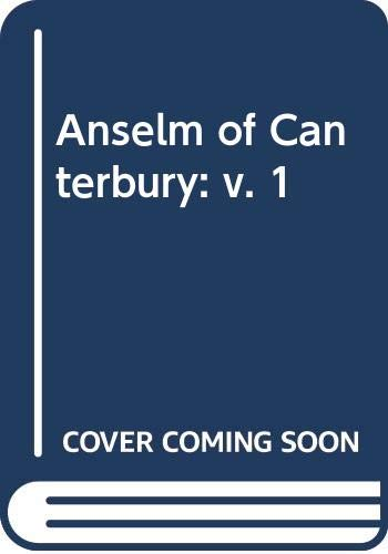 9780334000358: Anselm of Canterbury: v. 1