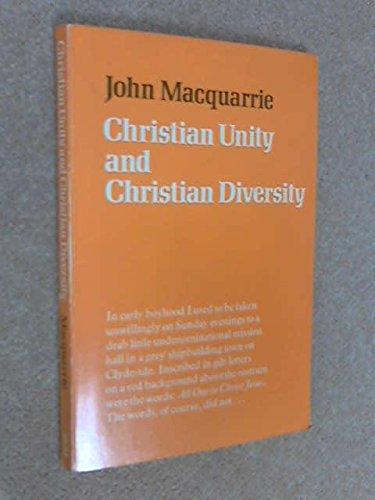 Christian Unity and Christian Diversity: Macquarrie, John