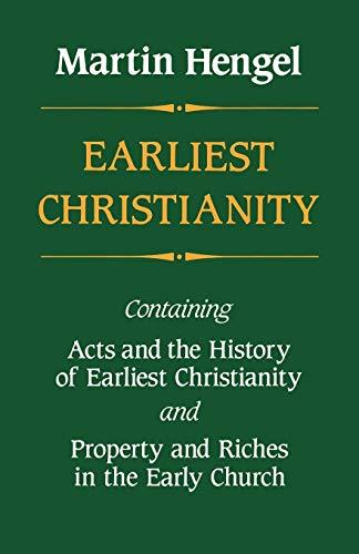9780334003465: Earliest Christianity