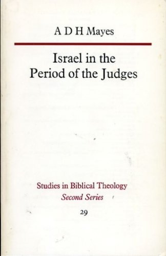 9780334007401: Israel in the Period of the Judges (Study in Bible Theology)