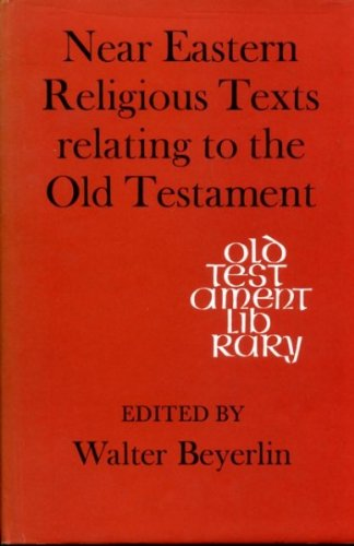 9780334011217: Near Eastern Religious Texts Relating to the Old Testament (Old Testament Library)