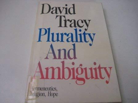 9780334012917: Plurality and Ambiguity: Hermeneutics, Religion, Hope
