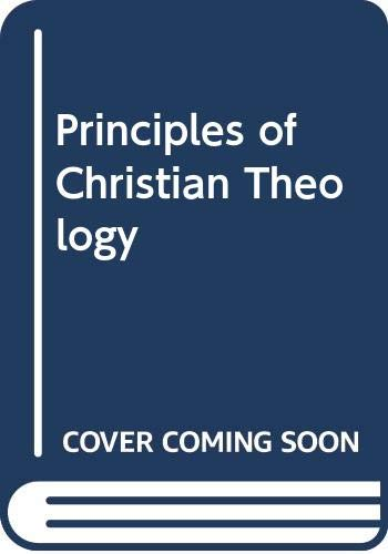 9780334013013: Principles of Christian Theology