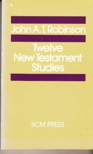 9780334016922: Twelve New Testament Studies (Study in Bible Theology)