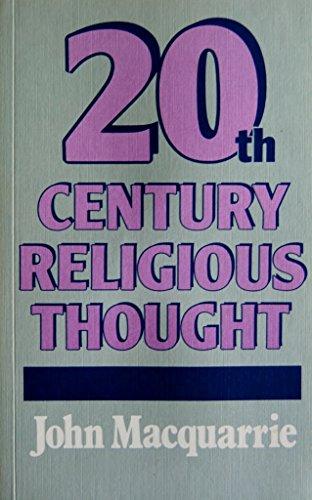9780334017097: Twentieth-Century Religious Thought