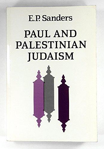 9780334022473: Paul and Palestinian Judaism