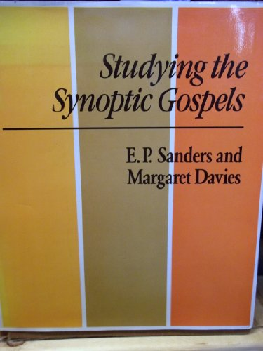 9780334023418: Studying the Synoptic Gospels