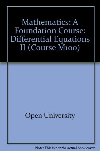 9780335010301: Mathematics: Differential Equations II Unit 31: A Foundation Course (Course M100)