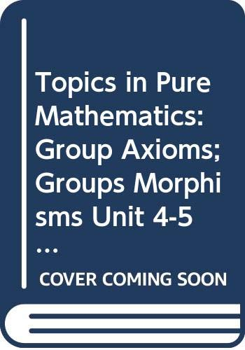 Group Axioms, Groups Morphisms (M202 Units 4: Open University Press