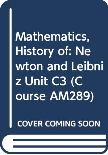 Mathematics, History of (Course AM289) Volume C3: Baron, Margaret Eleanor