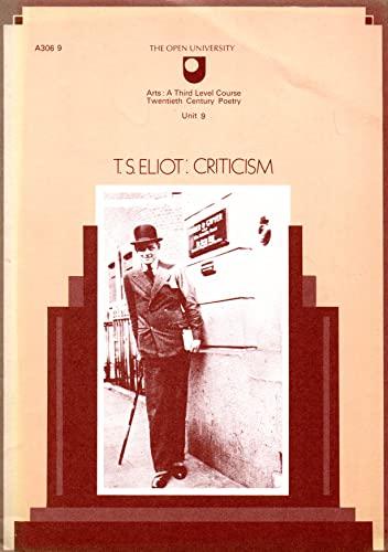 T. S. Eliot: Criticism: Martin, Graham