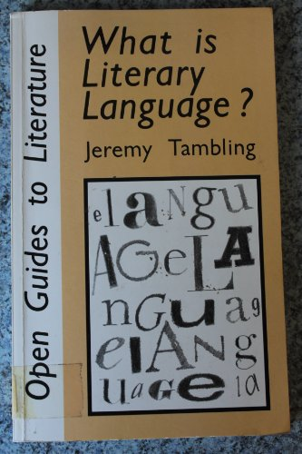 9780335090150: WHAT IS LITERARY LANGUAGE PB (Open Guides to Literature)