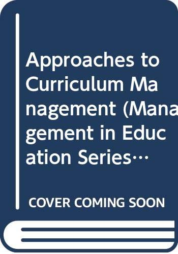 9780335092499: Approaches to Curriculum Management