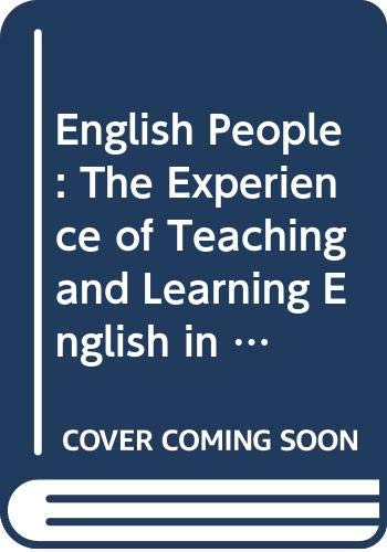 9780335093595: English People: The Experience of Teaching and Learning English in British Universities