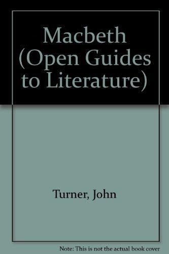 9780335094479: MACBETH PB (Open Guides to Literature)