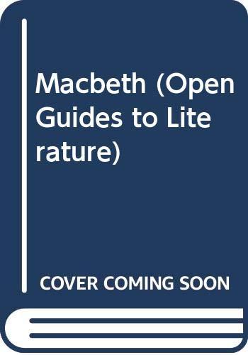 9780335094486: MacBeth (Open Guides to Literature)